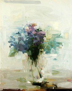 Blue Hydrangea  by Amy Brnger