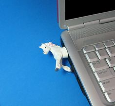 8 GB Unicorn USB flash drive by Hemingwayfun on Etsy, $25.00