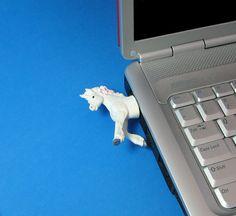 8 GB Unicorn USB flash drive by Hemingwayfun on Etsy, $25.00