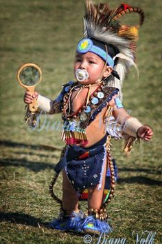 Toddler at a pow-wow