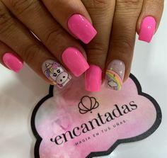Super Nails, Manicure And Pedicure, Pink Nails, Nails Inspiration, Polish, Nail Art, Lima, Beauty, Dress