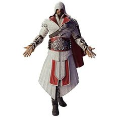 Neca Assassin's Creed Brotherhood Ezio Auditore Da Firenze Ivory Costume Figurina, 7 pollici