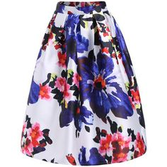 SheIn(sheinside) Multicolor Floral Flare Midi Skirt