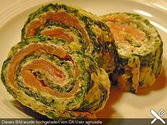 Lachs - Spinat - Rolle, ein schmackhaftes Rezept aus der Kategorie Kalt. Bewertungen: 594. Durchschnitt: Ø 4,6.