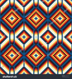 Find Tribal Seamless Colorful Geometric Pattern stock images in HD and millions of other royalty-free stock photos, illustrations and vectors in the Shutterstock collection. Thousands of new, high-quality pictures added every day. Tapestry Crochet Patterns, Crochet Stitches Patterns, Crochet Chart, C2c Crochet, Cross Stitch Patterns, Native Beading Patterns, Beadwork Designs, Bead Loom Patterns, Geometric Patterns