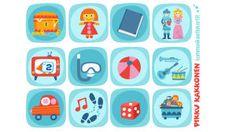 Pikku Kakkonen: Kommunikaatiokortit Kids Crafts, Diy And Crafts, Printable Paper, Free Printables, Kindergarten, Projects To Try, Clip Art, Classroom, Teaching