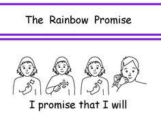 BSL Rainbow Promise British Sign Language