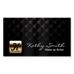 Luxury Gold and Black Makeup Artist Business Card. This great business card design is available for customization. All text style, colors, sizes can be modified to fit your needs. Just click the image to learn more! Fashion Business Cards, Beauty Business Cards, Makeup Artist Business Cards, Black Business Card, Elegant Business Cards, Custom Business Cards, Business Card Logo, Business Card Design, Black Makeup Artist