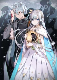 Anime Oc, Old Anime, Kawaii Anime, Anime Guys, Anastasia Romanov, Rin And Shiemi, Anime Siblings, Anime Couples Drawings, Fate Servants