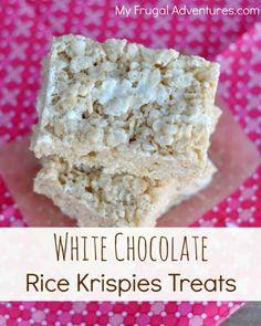 White Chocolate Rice Krispies Treats- so addicting!