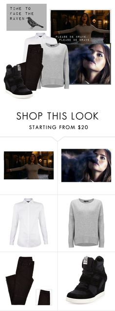 """Clara Oswald - Face The Raven"" by nuzzlesandhappytears ❤ liked on Polyvore featuring 360 Sweater, Ash, doctorwho, ClaraOswald, dw, spoilers and Facetheraven"