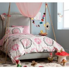ZINNIA ROSE DUVET SET,$156.00