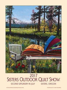 2015 sisters outdoor quilt show poster by dennis mcgregor