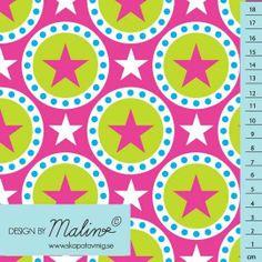 LIANDLO Vorschau  All Star pink Sterne Stars Punkte Kreise Baumwolljersey