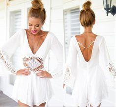 UK-Womens-Lace-Playsuit-Party-Evening-Summer-Lady-Shorts-Jumpsuit-Sun-Dress-Lot
