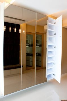 Casa Merah   Cubetopia Shoe cabinet...right at the front door. Encourages no yucky shoes on carpet