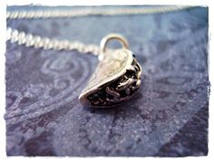 Silver Taco Necklace  Sterling Silver Taco by EvelynMaeCreations