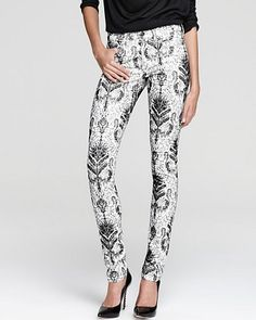 Joe's Jeans – Printed Skinny with Flocking