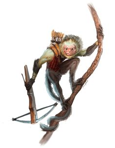 monkey whtbg companion pet humanoid forest character concept whtbg