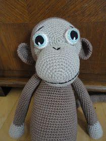 Den lilla elefant: Hæklet abe.... Stor hæklet abe