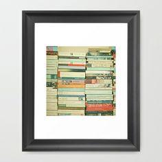 Bookworm Framed Art Print by Cassia Beck - $38.00