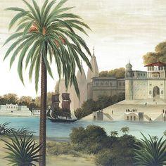 Paysages colorés - Varanasi couleur L500xH270 - ultra mat - 5 lés de 100cm