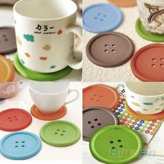 Cheap mat, Buy Quality mat fabric directly from China mat two Suppliers:  5Pcs Cute Colorful Silicone Button Coaster Cup Cushion Holder Drink Placemat Mat   Features: Made of durable silicone,N