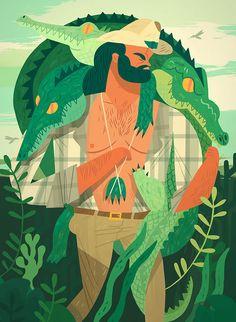 Folio illustration agency, London, UK   Owen Davey - Advertising ∙ Editorial ∙ Publishing ∙ Vector ∙ Character ∙ Mountains ∙ Trees ∙ Water - Illustrator
