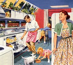 Plan59 :: Retro 1940s 1950s Kitchens :: Weirton Steel, 1953