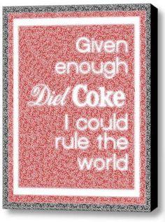 fun Diet Coke Rule The World Mosaic Framed 9X11 Limited Edition Art w/COA