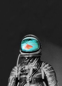 But does it float. // Underwater Astronaut, by Budi Satria Kwan.