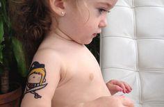 Foto da tatuagem temporária Piratitas de Le Petit Pirate