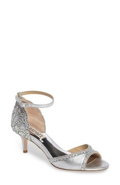 online shopping for Badgley Mischka 'Gillian' Crystal Embellished d'Orsay Sandal (Women) from top store. See new offer for Badgley Mischka 'Gillian' Crystal Embellished d'Orsay Sandal (Women) Bridal Wedding Shoes, Bridal Heels, Quinceanera Shoes, Wedge Loafers, Badgley Mischka Shoes, Caged Sandals, Embellished Sandals, Women's Pumps, Leggings Are Not Pants