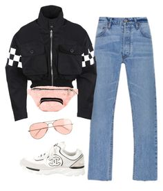 """""""pink petals"""" by chanelandcoke ❤ liked on Polyvore featuring Dsquared2, Skinnydip, Chanel and J.Crew"""