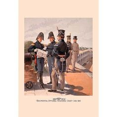 Buyenlarge 'Regimental Officers, Engineer and Cadet' by H.A. Ogden Painting Print