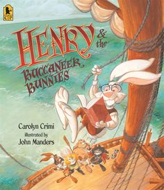 """On the Salty Carrot sails a wild, rowdy band of Buccaneer Bunnies, led by Barnacle Black Ear, the baddest bunny brute of all time. His son, Henry, would rather read books than shout """"Shiver me timbers!"""" or make prisoners walk the plank, even if it means swabbing the decks as punishment. PB 9780763645403 Ages 4-8, GRL M"""