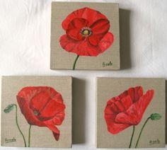 Aquarelles et acrylique sur lin» - Témoignage sur : Vos fleurs en ...