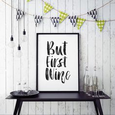 PRINTABLE ArtBut First WineCheers SignBar Wall by TypoHouse