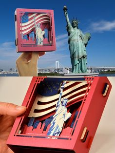 Pop up Card 3d card, Christmas New York gift The Statue of Liberty United States Gifts Independence Day Souvenir USA Flag USA gift for tourists #usa #usacard #newyork  #popupcards