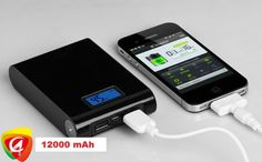 Baterie externa 12000 mAh cu display, 2 iesiri USB, la do. Phone Charger, Phone Cases, Mp4 Player, Portable Charger, Android Smartphone, Samsung Galaxy S4, Phone Accessories, Ipod, Iphone 4