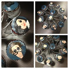 coraline cupcakes with vegan fondant. Adult Birthday Party, Sons Birthday, Baby Birthday, Birthday Party Themes, Coraline Art, Coraline Jones, Scary Cakes, Unusual Art, Scary Movies