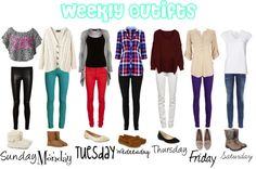 """""""Weekly Outfits"""" by sarahzimmerling on Polyvore"""