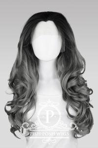 Stefani Gunmetal Grey Ombre Lace Front Wig