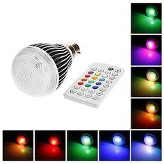 B22 9W 300LM RGB LED ampoule de boule avec IR Remote Control (AC100-240V) – EUR € 27.59