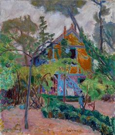 "House among the Trees (""My Caravan"" at Vernonnet). Pierre Bonnard, 1918. The Fitzwilliam Museum, University of Cambridge. Cambridge. Reino Unido."