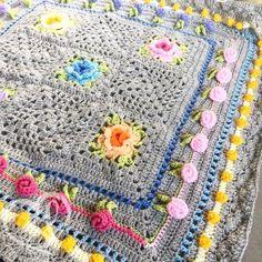 Rainbow Garden Blanket (Paid pattern)
