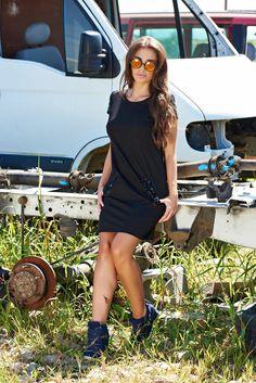 Rochie StarShinerS Cool Girl Black. Rochie cu croi lejer potrivita pentru zi…