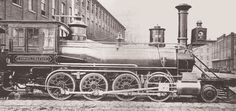 Baldwin locomotive photographed outside the Philadelphia factory in 1866