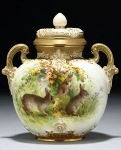 Royal Worcester • gorgeous Easter Canister