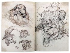 Justin Gerard Sketchbook 2013 The Four Dwarves by Justin  Gerard - Gallery Nucleus